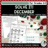 Holiday Math Worksheets   Problem Solving and Critical Thinking