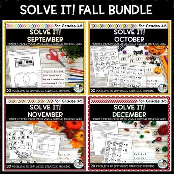 Solve It! Fall Bundle: Four Problem Solving Activity Packs