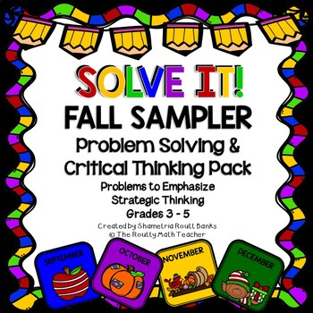 Solve It! Fall Sampler: Problem Solving and Critical Thinking FREEBIE Pack