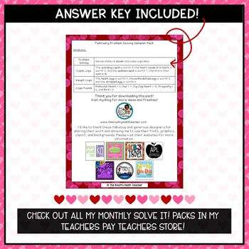 Solve It! February Sampler: Problem Solving and Critical Thinking Pack