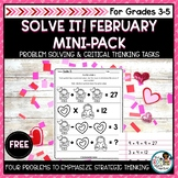 Valentines Day Math FREE Mini-Pack   Problem Solving Activities