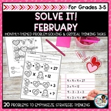 Solve It! February: Valentines Math Problem Solving and Cr