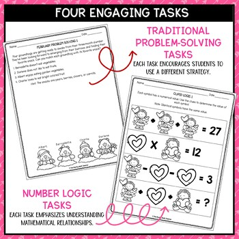 Solve It! February: Valentines Math Problem Solving and Critical Thinking Pack