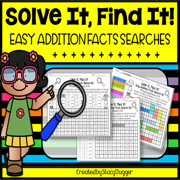 Solve It Find It Easy Addition Facts Searches