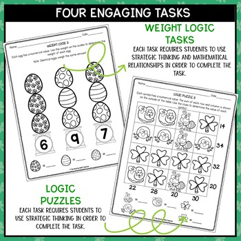 Solve It! March: St Patricks Day Math Problem Solving and Critical Thinking Pack