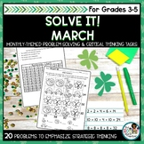 St Patricks Day Math   Problem Solving and Critical Thinking Pack