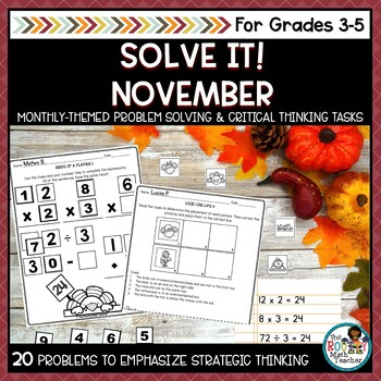 Solve It! November: Problem Solving and Critical Thinking Pack