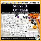 Solve It! October: Halloween Math and Problem Solving Activities Pack