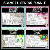 Solve It! Spring Bundle: Five Problem Solving Activity Packs
