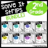 2nd Grade Math Centers Solve It Strips® | Math Games