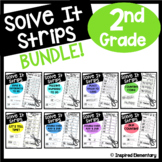 2nd Grade Math Centers Solve It Strips® | Math Games