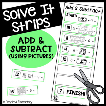 Solve It Strips: Addition and Subtraction With Pictures