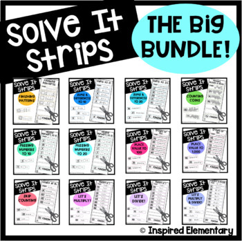 Solve It Strips BUNDLE! Hands-On Math Puzzles (Primary Edition)
