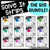 Math Puzzles | Math Centers |  Solve It Strips® Bundle