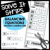 Solve It Strips: Balancing Equations