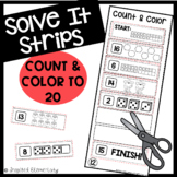 Solve It Strips: Count & Color to 20
