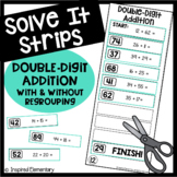 Solve It Strips: Double-Digit Addition With and Without Regrouping