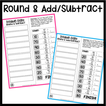Solve It Strips: Double-Digit Addition and Subtraction WITH REGROUPING