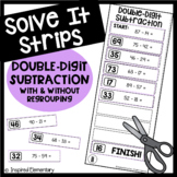 Solve It Strips: Double-Digit Subtraction With and Without Regrouping