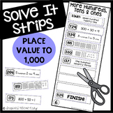 Place Value to 1000 Solve It Strips®