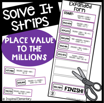 Solve It Strips: Place Value to the Millions