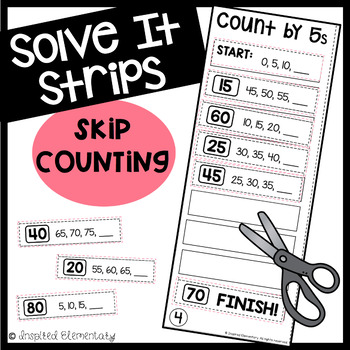 solve it strips skip counting by 2s 5s by inspired elementary teachers pay teachers. Black Bedroom Furniture Sets. Home Design Ideas