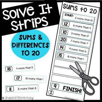 Solve It Strips: Sums and Differences to 20