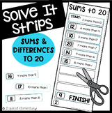 Sums and Differences to 20 Solve It Strips®
