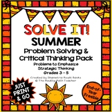 Solve It! Summer: End-of-the-Year and Summer Math Problem Solving Freebie Pack