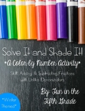 Solve It and Shade It: Adding & Subtracting Fractions with Unlike Denominators