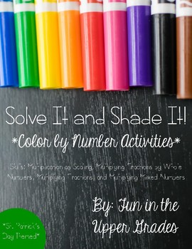 Solve It and Shade It: Multiplying Fractions {St. Patrick's Day Themed}