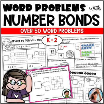 WORD  PROBLEMS using NUMBER BONDS ( AND MORE)