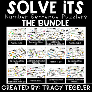 Solve Its: Number Sentence Puzzlers THE BUNDLE