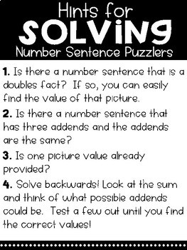 Solve Its: Number Sentence Puzzlers (Volume 1: Addition to 10)