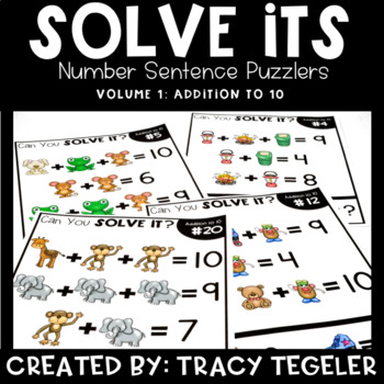 Solve Its: Number Sentence Puzzlers (Vol 1: Addition to 10)