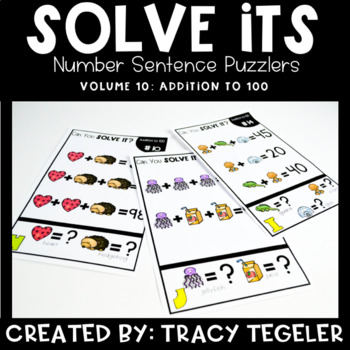 Solve Its: Number Sentence Puzzlers (Vol 10: Addition to 100)