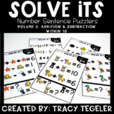 Solve Its: Number Sentence Puzzlers (Vol 3: Addition & Sub
