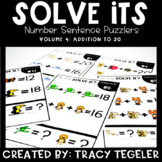 Solve Its: Number Sentence Puzzlers (Vol 4: Addition to 20)