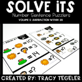 Solve Its: Number Sentence Puzzlers (Vol 5: Subtraction Wi