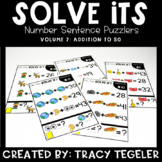 Solve Its: Number Sentence Puzzlers (Vol 7: Addition to 50)