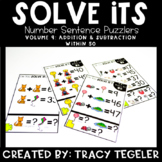 Solve Its: Number Sentence Puzzlers (Vol 9: Addition & Sub