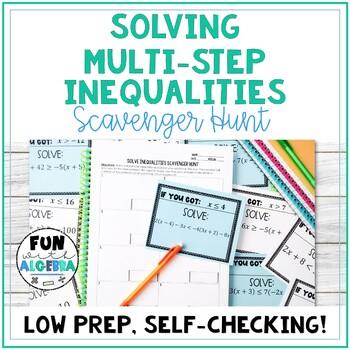 Solve Linear Inequalities Scavenger Hunt {Algebra 1}