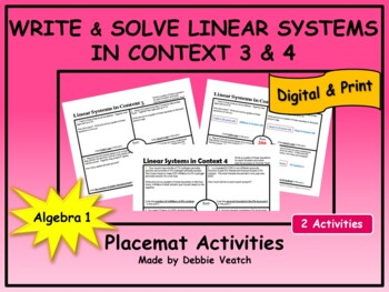 Solve Linear Systems In Context 3 & 4 (age & percent probl