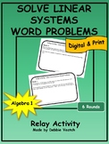 Solve Linear Systems Word Problems Relay Activity | Digita