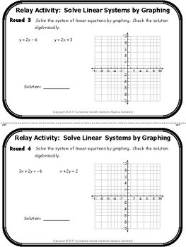 Solve Linear Systems by Graphing Relay Activity