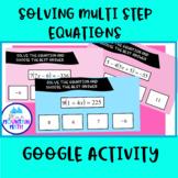 Solve Multi - Step Equations Activity--Google Slide Activity