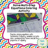 Solve Multi-Step Equations Coloring Activity