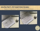 Solve Multi-Step Equations FOLDABLE