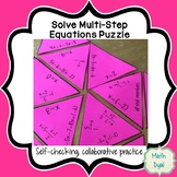 Solve Multi-Step Equations Puzzle