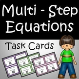 Solving Equations Task Cards & Worksheets Common Core - High School Algebra
